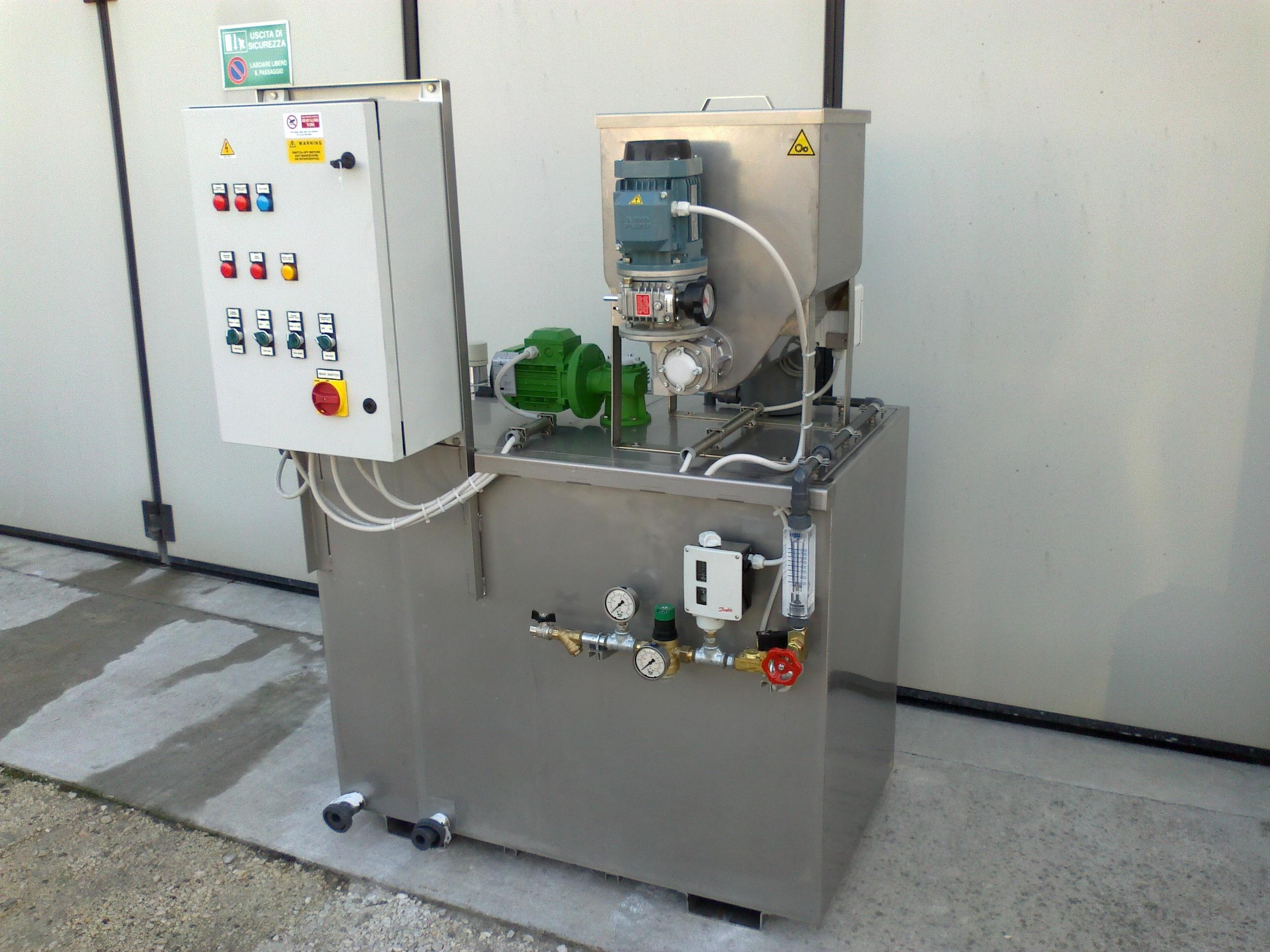 Stazioni preparazione polielettrolita da prodotto in polvere